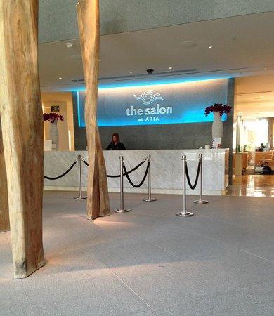 The Spa & Salon at Aria: Salon reception desk