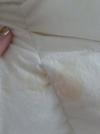 G&V Royal Mile Hotel Edinburgh: Staining on duvet