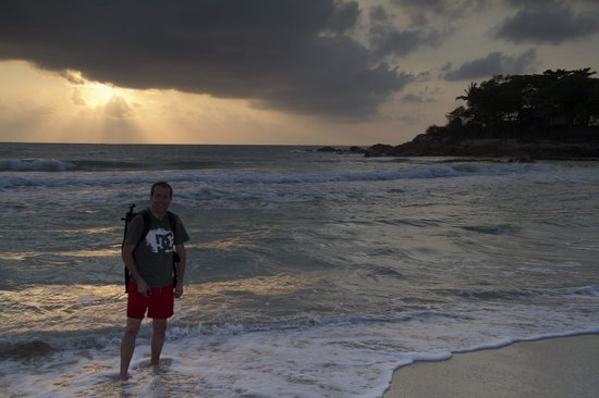 Samui Resotel Beach Resort: Me, shortly after photographing a gorgeous sunrise near the hotel.