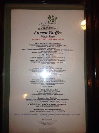 The buffet is on the top floor of Harrah's - Picture of ...