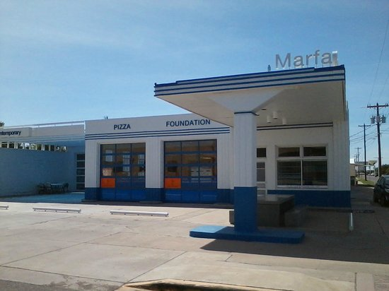 i clean Marfa Contemporary and maintain outside Pizza Foundation