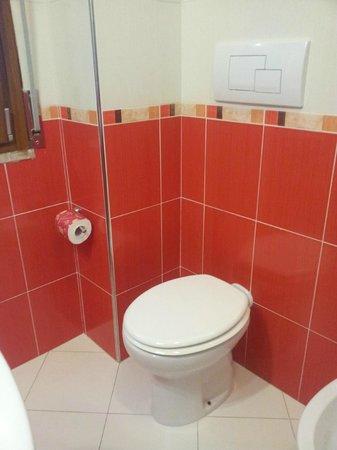 B&B Santa Caterina : Bagno privato in camera stanza rossa