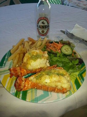 Bertha's Blue Dinghy : Double lobster tail!!!