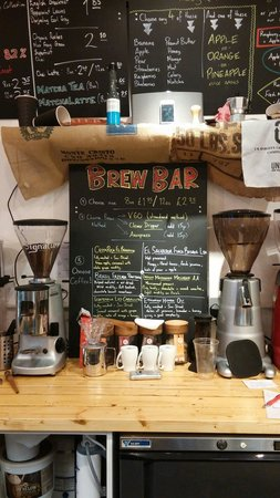 Cotswold Artisan Coffee: The brew bar showing current selected coffee