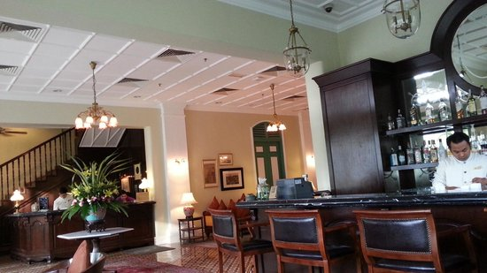 The Majestic Malacca: Lobby where high tea is served.
