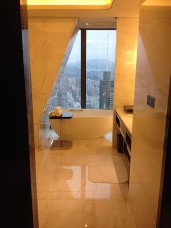 The St. Regis Shenzhen: View from the bathroom