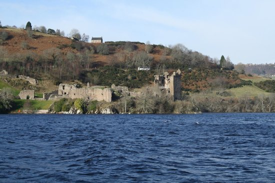 Loch Ness by Jacobite: View of the castle from the boat
