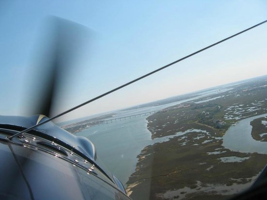 St. Augustine Biplane Rides: View from the cockpit