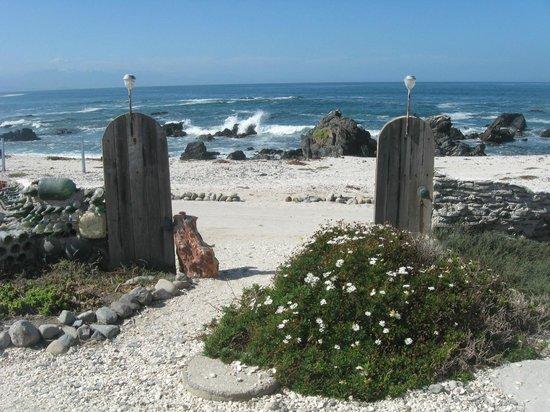 Las Cubas de Cydonia: vista playa desde cabaña