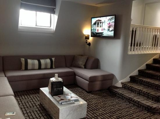 Hotel Union Square : living room in the penthouse