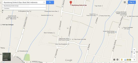 Biyukukung Suites and Spa: Incorrect location