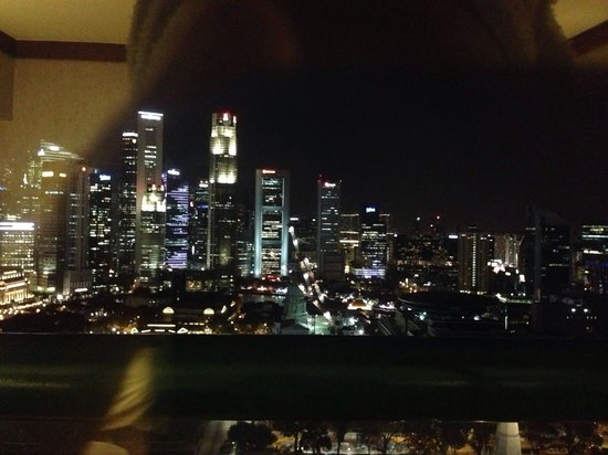 Swissotel The Stamford Singapore: City view room night view
