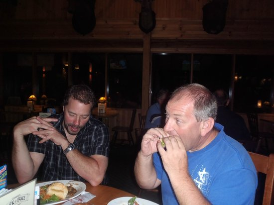 """Yorkey's Knob Boat Club: Our Matt and Kevin """"digging in"""""""