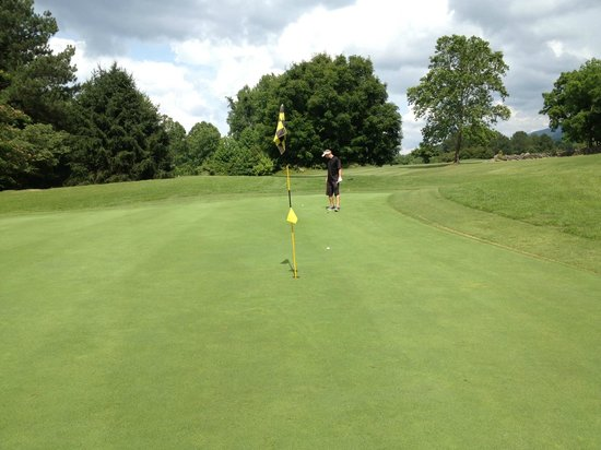 Bent Creek Golf Course: On the green at the 14th, sorry man that is a long way! Birdie!
