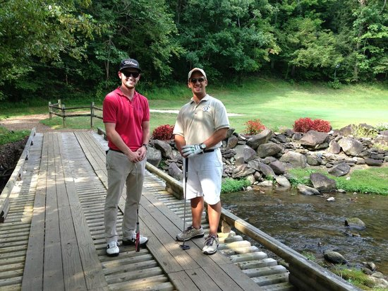 Bent Creek Golf Course: My best friend(on the right) and I at the ERA for MDA tourney.