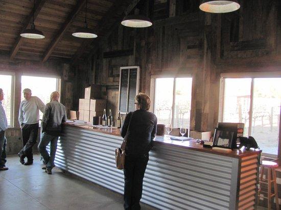 Unti Vineyards: Low key tasting room. The anti-Napa!