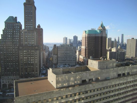 New York Marriott at the Brooklyn Bridge : View from club lounge