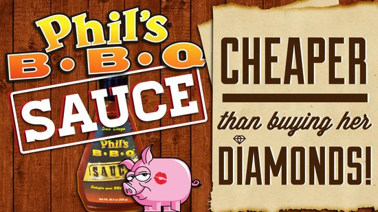 Phil's BBQ: Take a bottle of our sauce home with ya!