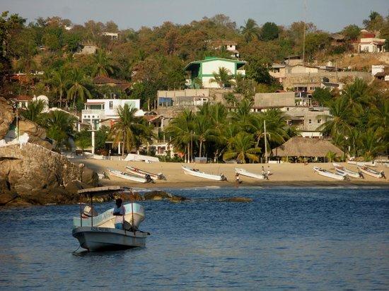 La Cabana de Puerto Angel: la playa