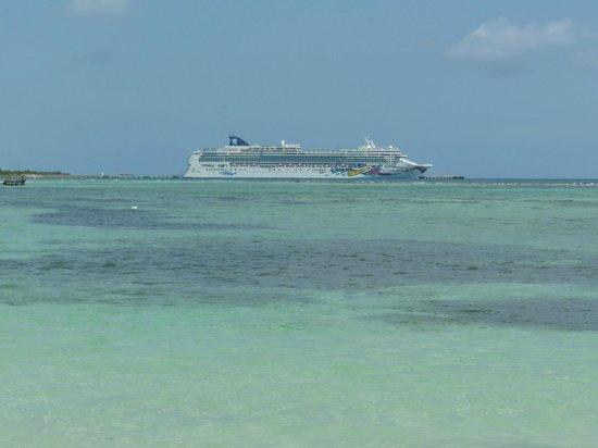 Our cruise ship from Mahahual Beach area.
