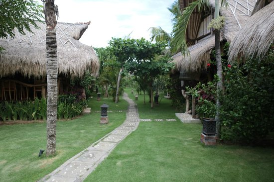 Flower Bud Bungalows Balangan : Flower Bud Bungalows - Uluwatu Bali Indonesia - Balangan Beach - path