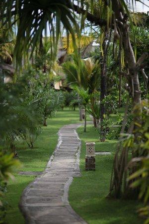 Flower Bud Bungalows Balangan: Flower Bud Bungalows - Uluwatu Bali Indonesia - Balangan Beach - path through the resort