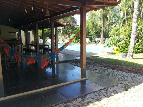 Hotel Fazenda Paraiso dos Pavoes: Varanda