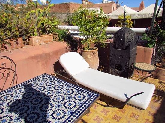 Riad Al Mamoune : Relax in the roof garden