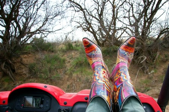 d08434e6ba3 Cowgirl boots on the trail ride:) - Picture of Arizona Offroad Tours ...