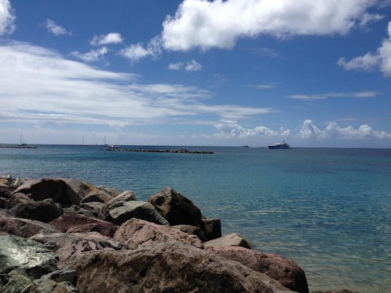 Four Seasons Resort Nevis, West Indies: View at lunch (Mango's)