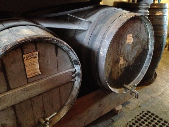 West Stockbridge, MA: Old vanilla barrels