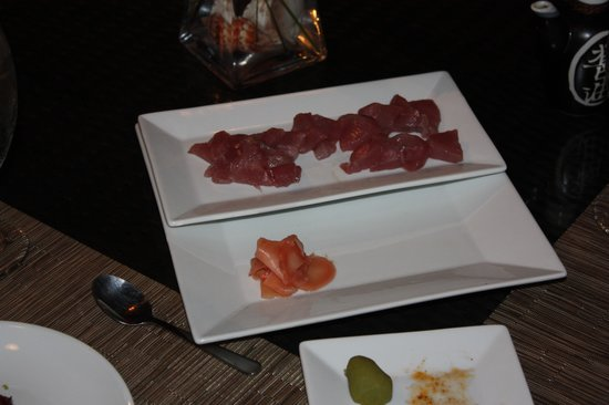 Xbalanque Resort : Our fresh tuna sashimi