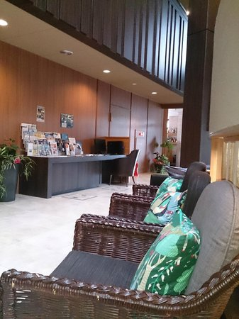 Umi No Hotel Shimahana : ロビー、淡路島のいろんなパンフレットが置いてありました