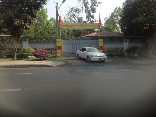 Aung San Suu Kyi House : Managed to capture the moment the Nobel Laureate was leaving her house.