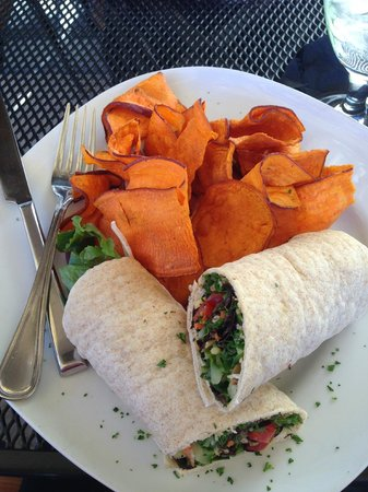 The Herb Box: delicious wrap and home made chips!