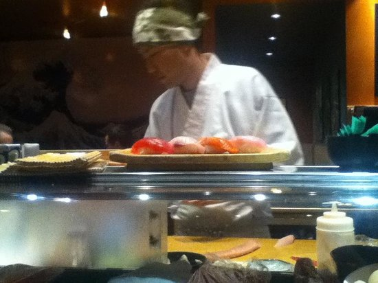 Sachi Sushi: Watch the sushi chefs in action from the bag seats