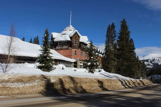 Deer lodge from the road
