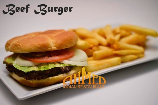 Beef burger picture of ahmed indian restaurant obt for Anmol indian cuisine orlando