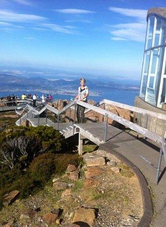 Mount Wellington: wonderful views over the city.