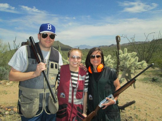 Right On Target Clay Guides of AZ: LaBossiere Family loving some Sporting Clays in the Desert