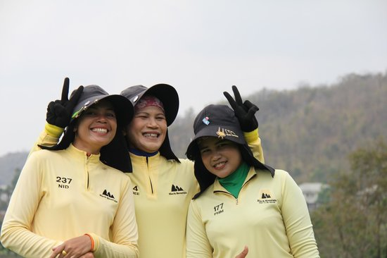 Black Mountain Golf Club: We hired a third caddy this day to take photos - and she did a great job!