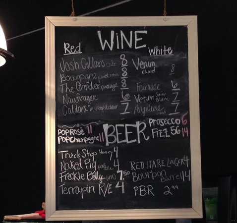 Bitter Brick: Current Vino and beer selection as of 3 March 2014