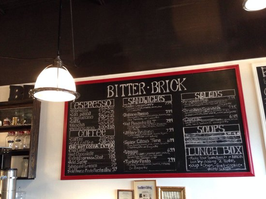 Bitter Brick : Menu