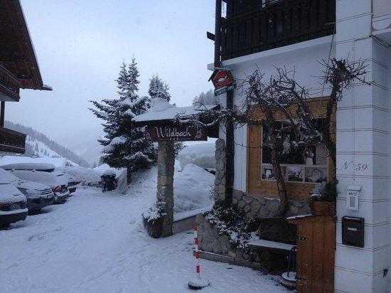 """Garni Hotel Wildbach: l'entrata del """"Regno"""""""