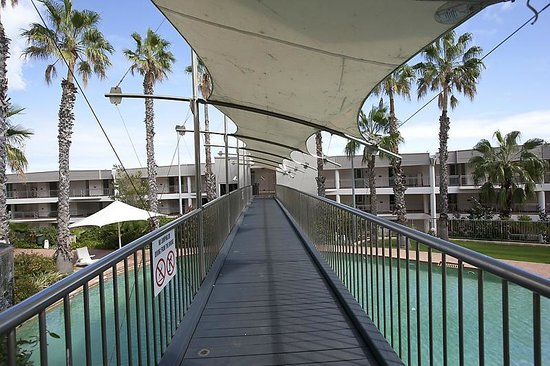 Observation Rise (bridge over outdoor lagoon pool)