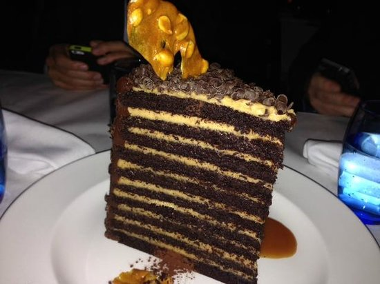 Lavo Restaurant: 20 layer chocolate & peanut butter cake