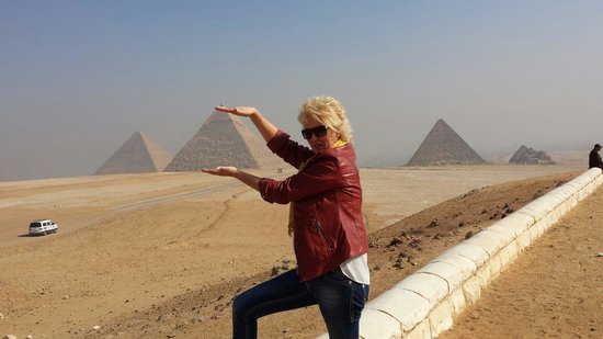 Tours From Hurghada-Day Tours : The pyramid in my hands :-)