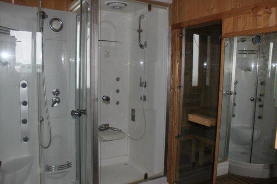 Chalet le Nivôse : Le sauna et les douches Balnéo