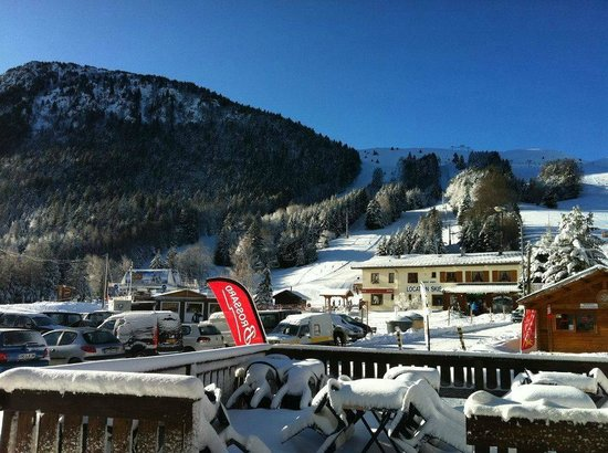 Chalet le Nivôse : Une belle vue de la terrasse.