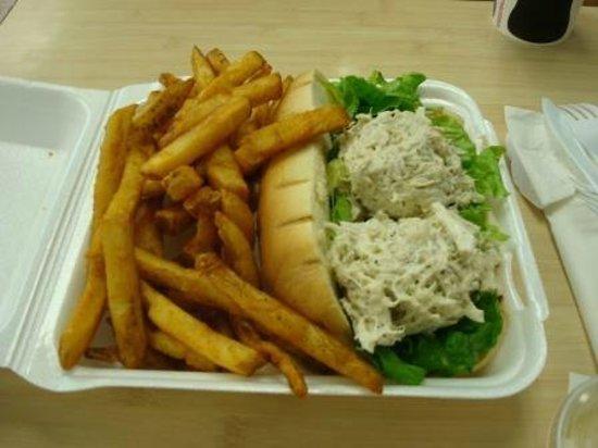 Crab Sandwich - Fresh Catch (quick service) Restaurant, Kaneohe, Hawaii